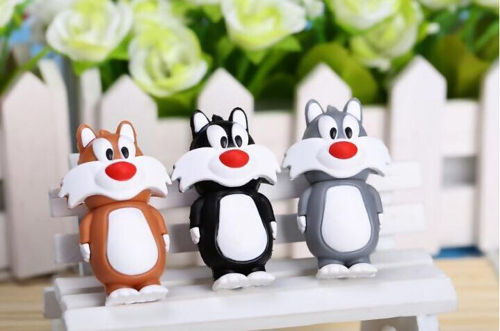 cartoon cute Cat USB Flash Drive 4GB 8GB 16GB 32GB USB Flash Pen Drive Memory Stick/Thumb/Card/ Gift creative Pendrive#21