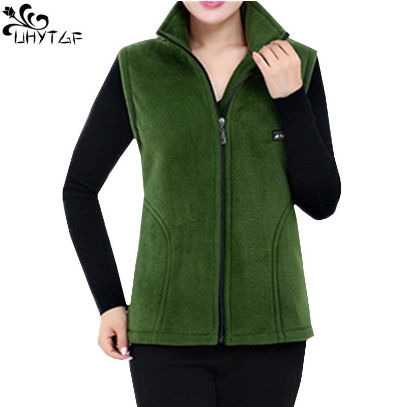 UHYTGF 2018 New Fleece Women Vests Autumn Korean Plus size Sleeveless font b Jackets b font