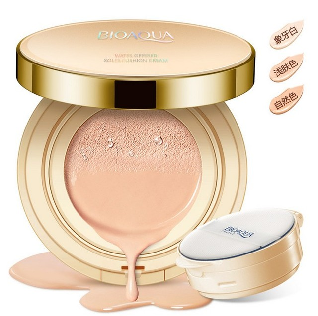 BIOAQUA  Makeup 3 colors MIST AIR CUSHION BB Cream sunscreen Concealer  Brighten skin Moisturizer Whitening CC Cream