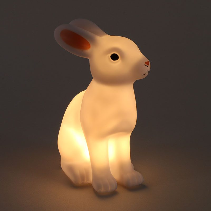 Good Gift For Kid Creative Novelty Animal Rabbit Sleep LED Table Night Light Rabbit Lamp Children Kid Favor Gift Toy Cartoon creative smart rabbit alarm clock lamp light rabbit shaped led music sound controlled night light for indoor decor drop shipping