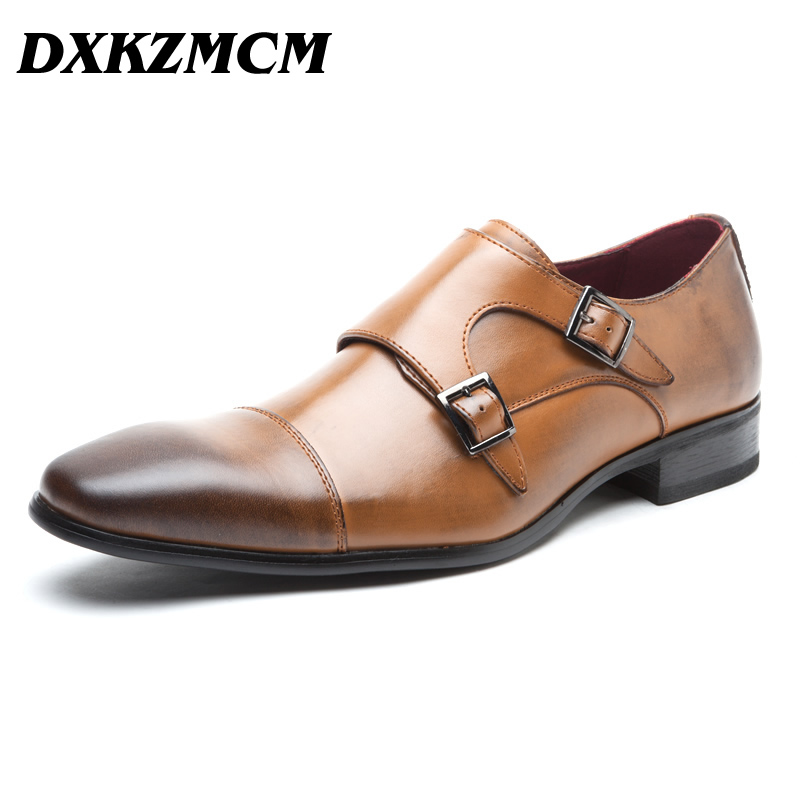 Handmade Men Oxfords Genuine Leather Mens Comfortable Formal Shoes Black Brown Party Business Wedding Dress Shoes