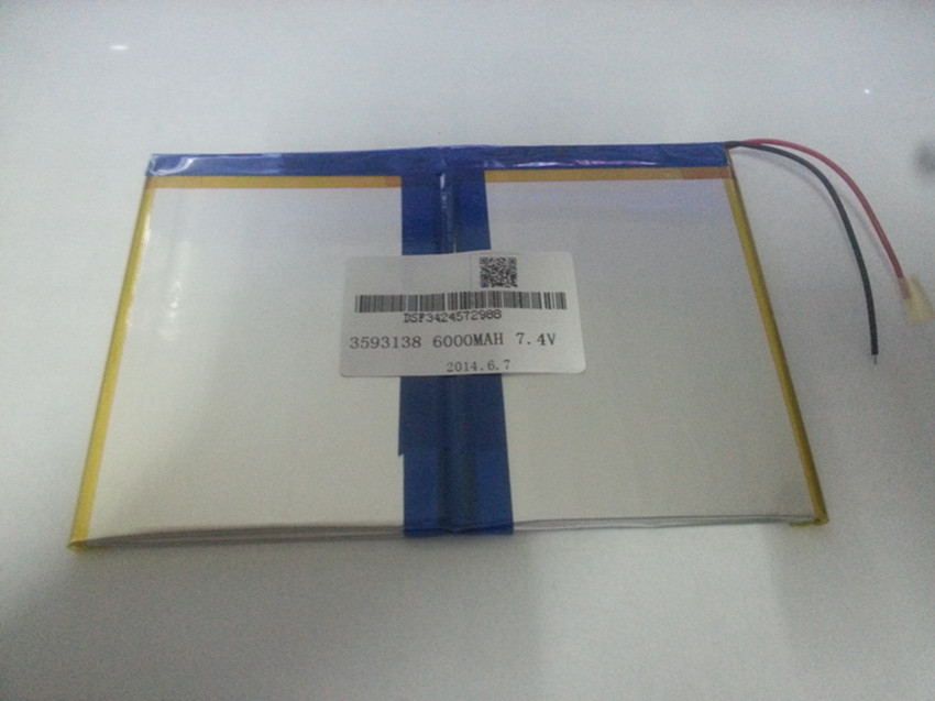 3593138,7.4V,6000mAH, 3595140 ( polymer lithium ion battery ) Li-ion battery for tablet pc,mp4,cell phone,speaker,