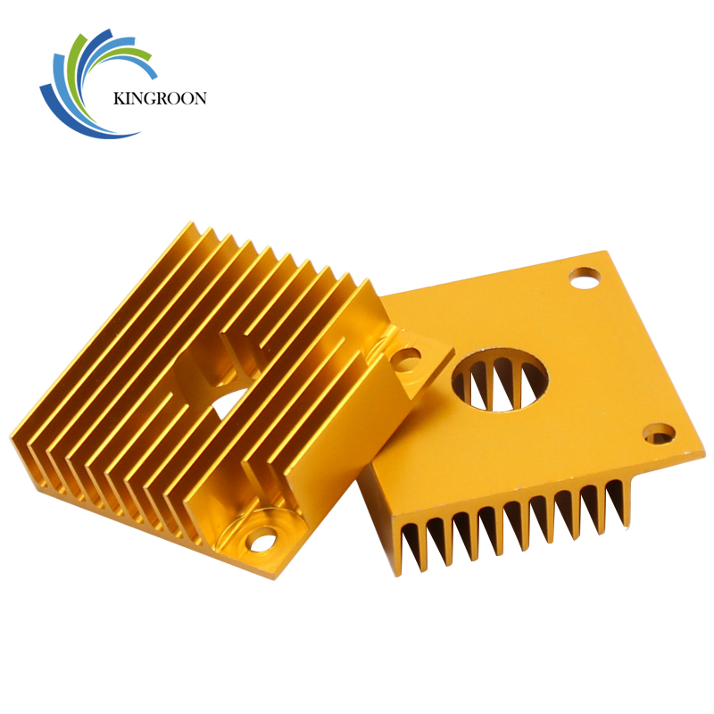 KINGROON 1PC MK7 MK8 Heat Sink 3D Printer Parts Cooler Aluminium Radiator Heat Sink 40*40*11mm For Makerbot MK7/MK8 Extruder 1