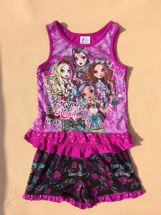 de5b907492 Monster high suit ever after high girls set kids summer clothing ...