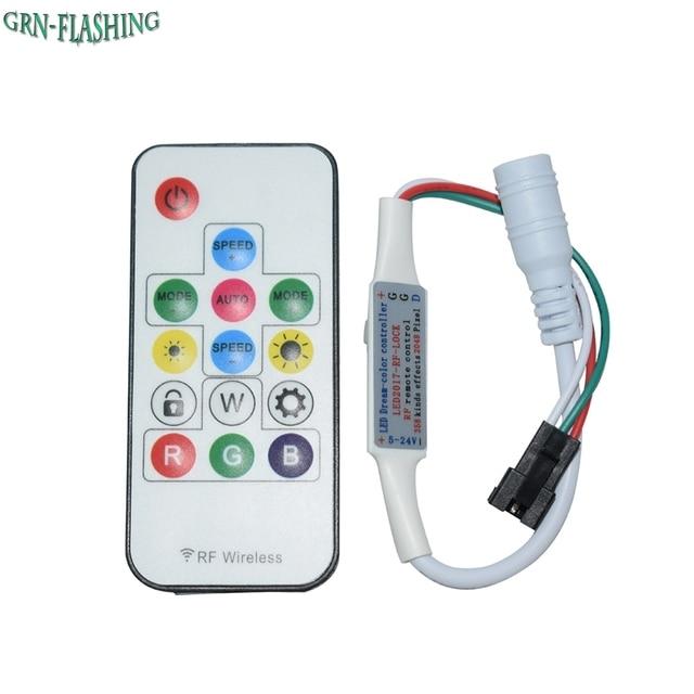 LED Sogno-Color Controller DC5V-14 Key RF Remote Controller 358 Tipi di Cambiamenti Effetti Per WS2811 WS2812 WS2812B HA CONDOTTO La Striscia