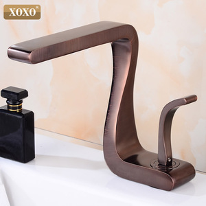 Image 4 - XOXO Basin Faucet Black Brass Hot and Cold Single Handle  Basin Mixer Tap Deck Mounted  Bathroom Faucets Sink  Faucet 21035