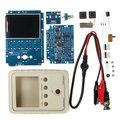 """Osciloscópio Digital DIY Peças do Kit com Caso SMD Soldado Conjunto de Aprendizagem Eletrônica 1MSa/s 0-200 KHz 2.4 """"TFT Handheld Pocket-size"""