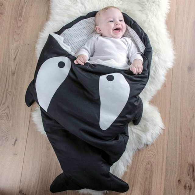 1 Pc Shark Cartoon Bunting Bag Child Anti Kick Bao Baobao Was Cart Available ATRQ0334