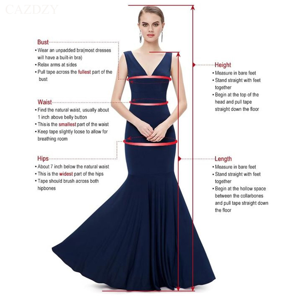 CAZDZY Elegant Mermaid V Neck Satin Women Party Dress Royal Blue Sleeveless Knee Length Cocktail Dresses with Pleats 12