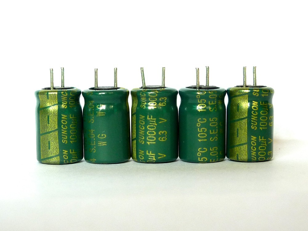 10pcs Suncon 8X12mm 6.3V 1000UF Electrolytic capacitor