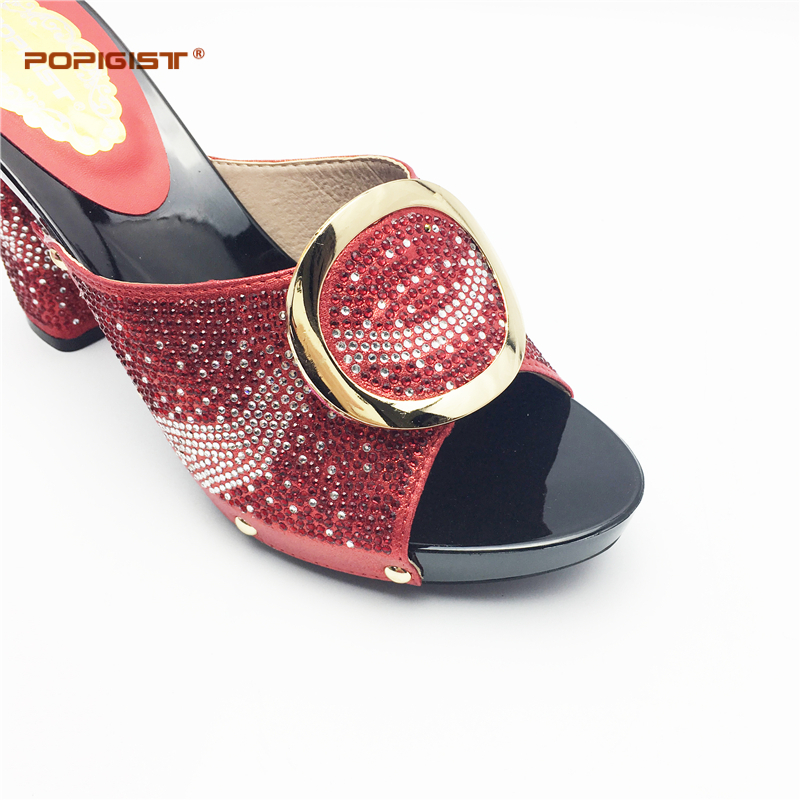 1a101376c78 Ladies Shoes And Bag Set black color good quality Fashion design with Rhinestone  Party African popular shoes and bag set summer-in Women s Pumps from Shoes  ...