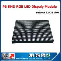 Kaler 25 pcs 1 lot 1 평방 미터 led 디스플레이 모듈 p6 야외 led 패널 32*32 픽셀 1/8 스캔 방수 야외 p6 led