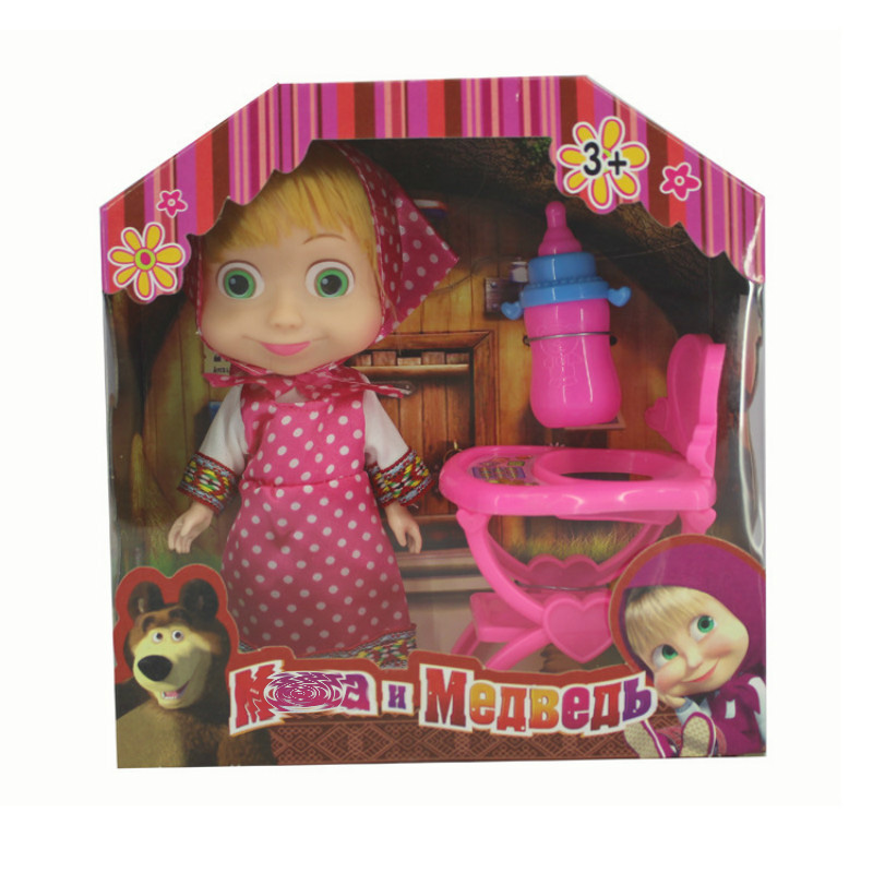 3 arten Cartoon Masha PVC Action-figuren Bär Spielzeug Maler Schnee Maiden Modell für Kinder Kinder Geburtstag Geschenk mit Original box