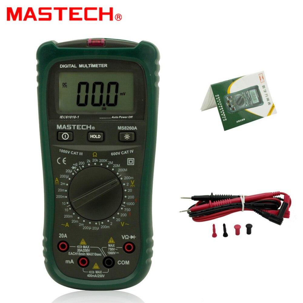 MASTECH MS8260A Digital Multimeter AC/DC Voltage Current Resistance Meter