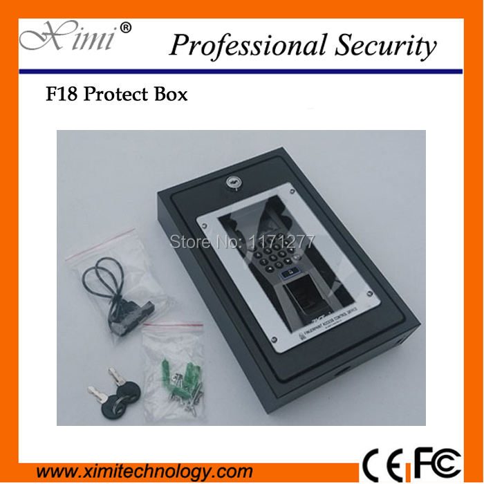 Protect box F18 fingerprint access control metal protect cover safety housing protective box biometric fingerprint access controller tcp ip fingerprint door access control reader