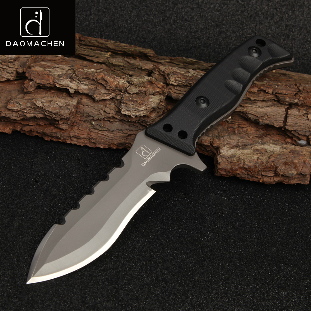 2017 Full Tang Outdoor Tactical Knife Survival Camping Tools Collection Hunting Knives With Imported K sheath G10 Handle hx small mercenary survival hunting knife d2 steel blade fixed blade knife straight camping knives multi tactical hand tools