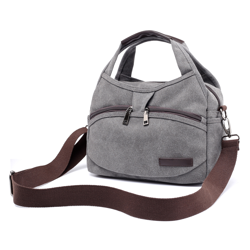 Detail Feedback Questions about Women s Canvas Handbags Female Hobos Single Shoulder  Bags Woman Crossbody Pack Vintage Solid Multi pocket Ladies Totes ... 4ef7b3ce6f
