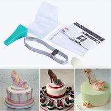 Лидер продаж Высокое качество DIY 3D силиконовые туфли на высоком каблуке Плесень Набор Торт Украшение Инструмент Для Fondant Шоколадный торт и ремесло глины