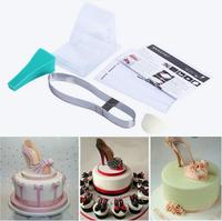 Hot Selling High Quality DIY 3D Silicone High Heel Shoes Mold Set Cake Decorating Tool For
