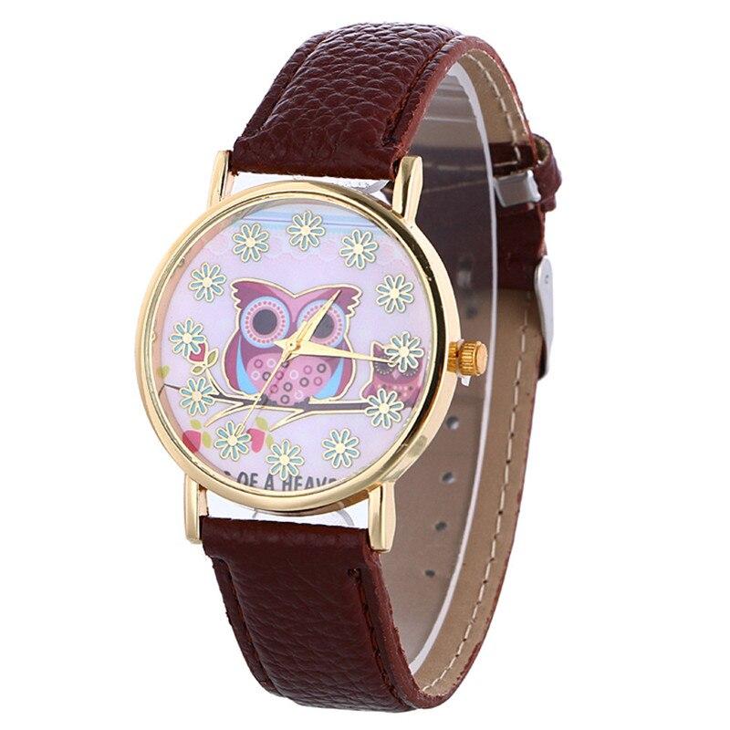где купить  Women's watches Relogio feminino  Saat Clock Women Fashion Women Leather Owl Pattern Quartz Analog Wrist Watch women,XL30  по лучшей цене