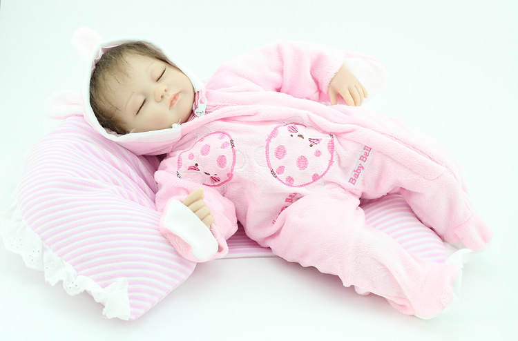 цена на 40 cm NPK Doll bebe reborn Baby 16 inch Lifelike Silicone Limbs Cloth Body baby alive Girl Dolls Kids Birthday Toys Gift