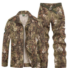 d16f3537923c45 Unisex Camouflage Uniform Python Pattern Tactical Suits Uniform Coat Pants  Mens Sets 3Colors(China)
