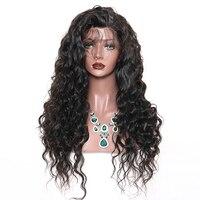 250 плотность свободная волна синтетические волосы на кружеве парик 4x4 синтетическое закрытие шнурка волос парик их натуральных волос