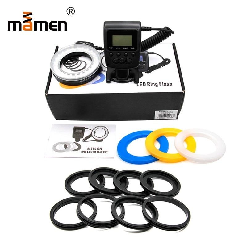 Mamen Camera Ring Flash Light 3000K 15000K 5 150cm Flash Range Photography Lighting For Canon Sony