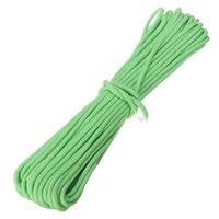 Hot Sale 50ft 15m Glow In The Dark 550 Lb Survival Bushcraft Paracord Parachute Cord Lanyard
