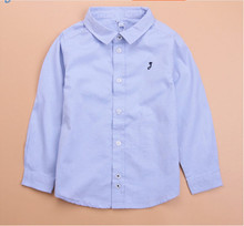 Brand  Hot Sale Children Boys Shirts Cotton Solid Kids Shirts Clothing For 6M-12 Years Wear YF1