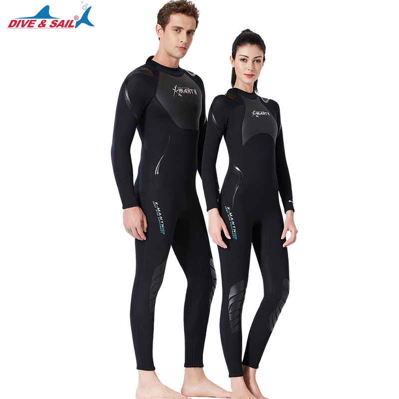 Neoprene One-piece Wetsuits 3MM Dive Skins Outdoor Equipment Water Sports Wet Jump Suits Swimwear Wetsuit Winter For Women & Man