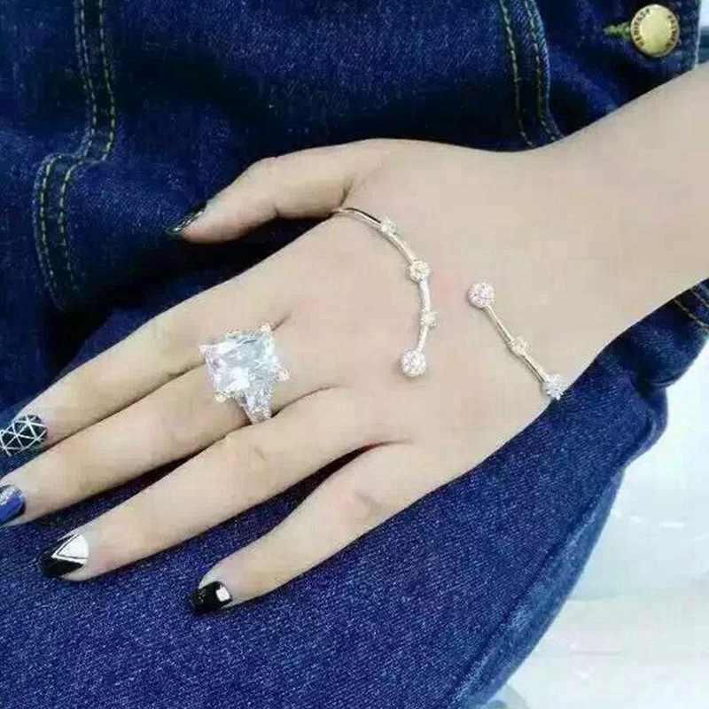 ユニークなエッフェル塔約束リング 925 スターリングシルバー 8ct AAAAA Sona Cz 婚約結婚指輪指輪女性のためのブライダルジュエリー