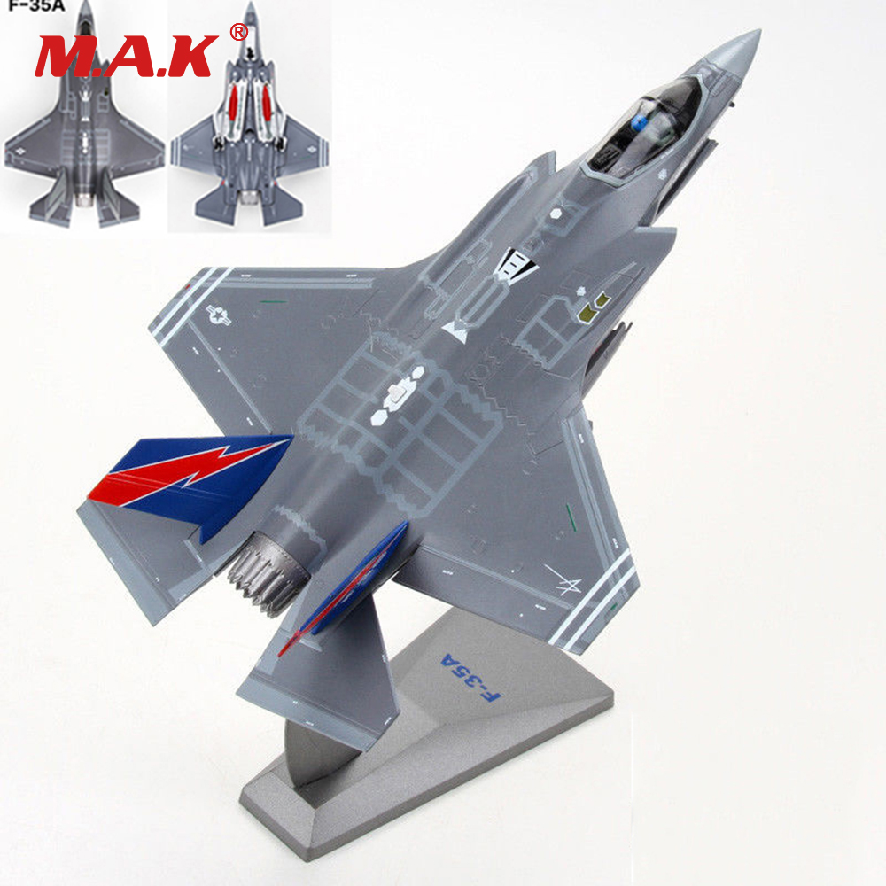 1/72 Model Toys Gift for Children Kids F-35A Model Simulation F35 Aircraft Alloy Model Toy for Collection rare gemini jets 1 72 cessna 172 n53417 sporty s flight school alloy aircraft model collection model