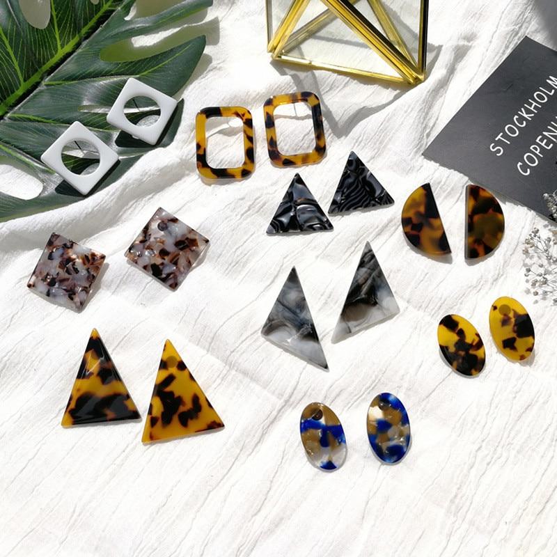 Home GüNstiger Verkauf Neue Acryl Acetat Leopard-print Geometrische Große Ohrringe Einfache Frauen Ohr Nägel Ohrringe Schmuck