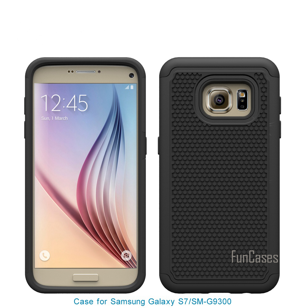 For Samsung Galaxy S7 G930 Case 5.1inch Heavy Duty Protective Armor Shock Absorbing Dual Layer Hybrid Rugged Rubber Cover Case