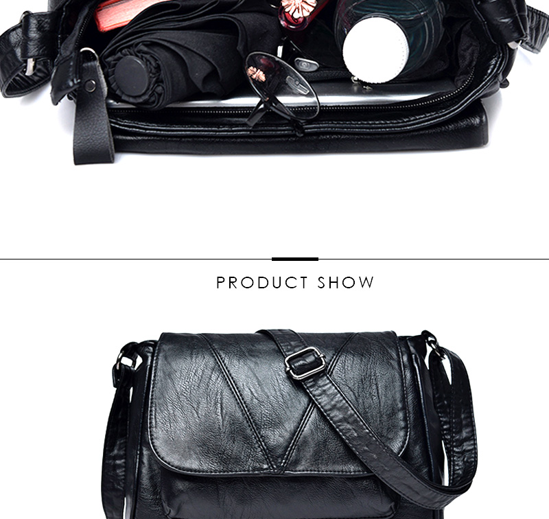 18 Women Messenger Bags Crossbody Soft Leather Shoulder Female Bag Flap Bolsa Feminina Designer Handbags High Quality Brand 16
