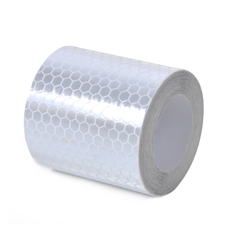 Safety Mark Reflective Tape Stickers Car-styling 5cm*1m Self Adhesive Warning Tape Automobiles Motorcycle Reflective Film 4color