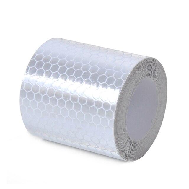 Veiligheid Mark Reflecterende tape stickers auto-styling 5 cm * 1 m Zelfklevend Waarschuwing Tape Automobiles Motorfiets Reflecterende Film 4 kleur