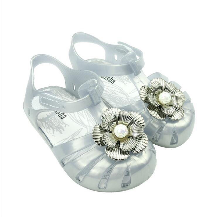 New Girl Shoes Flower Fantasy Colorful Jelly Shoes Cute Baby Cool Sandals Princess Shoes Size13 5 16 5CM in Sandals from Mother Kids