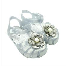 New Girl Shoes Flower Fantasy Colorful Jelly Cute Baby Cool Sandals Princess Size13.5-16.5CM
