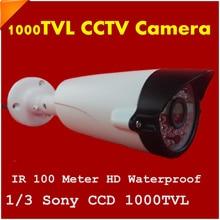 Newest 1/3″ SONY CCD HD 1000TVL Waterproof Outdoor Security Camera Surveillance IR CCTV Camera Night Vision