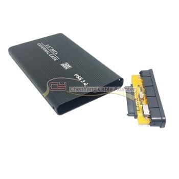 100PCS/CY 2.5 inch Sata 22p 7+15 SSD to USB 3.0 External Hard Disk Enclosure for PC Black