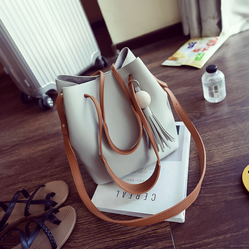 ФОТО Fashion High Quality Retro Tassel Women Messenger Bags Cross Body Women Bucket Bags Famous Designer 4 Solid Colors Bolsas wm0135