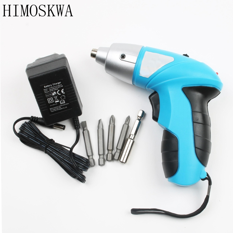 цена на HIMOSKWA 4.8V Rechargeable electric screwdriver Electric screwdriver for mini household electric screwdriver