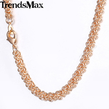 Necklaces For Women Men 585 Rose Gold Swirl Link Chain Necklace Woman Fashion Gifts 2018 Dropshipping Wholesale Jewelry 6mm CN13