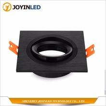 จัดส่งฟรี10Pcsสีดำ/กรอบอลูมิเนียมเงินติดตั้งGu10 Mr16หลอดไฟฮาโลเจนLedโคมไฟเพดานไฟ
