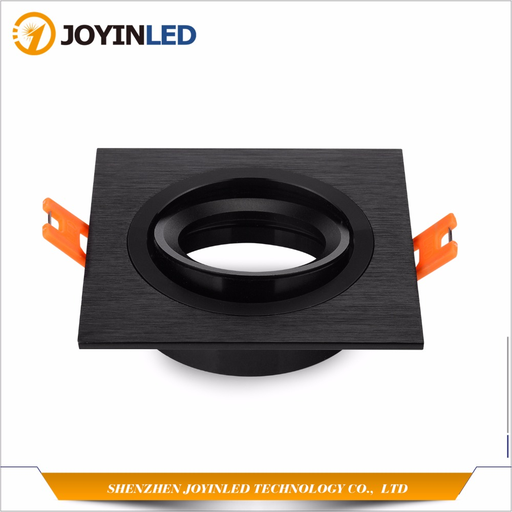 Free Shipping 10pcs Black/Silver Aluminium Frame Fixtures Gu10 Mr16 Halogen Bulb Led Ceiling Spot Lights free shipping 10pcs ds1202s
