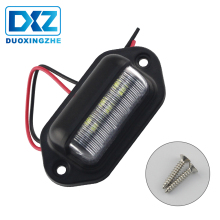 DXZ 12V 24V Truck Number License Plate Light Tail Light Step Lamp Tag Light White For Boat RV Motorcycle Trailer Lorries Caravan 2pcs 10 30v 6leds license plate light lamp bulbs number plate light for motorcycle boats aircraft automotive trailer rv truck