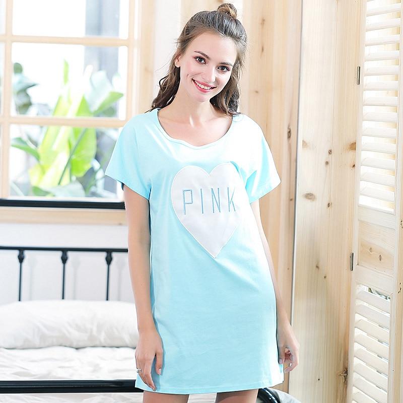 Fashion summer Women Cotton   Nightgowns     Sleepshirts   Home Short-sleeve Dress Sleepwear Loose Comfortable Nightdress