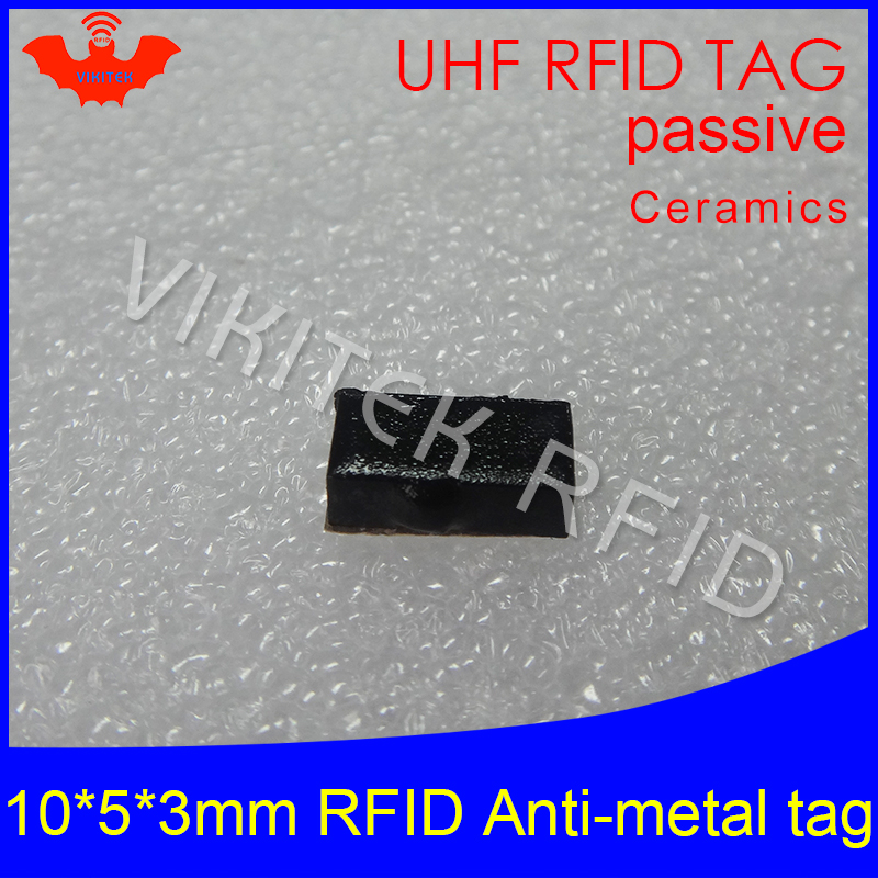 UHF RFID anti metal tag 915m 868mhz Alien Higgs3 EPCC1G2 6C 10*5*3mm very small rectangle Ceramics smart card passive RFID tags 1000pcs long range rfid plastic seal tag alien h3 used for waste bin management and gas jar management